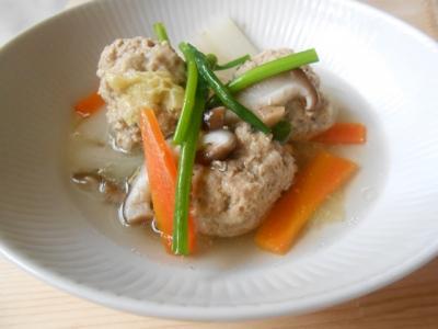 肉団子と野菜のスープ