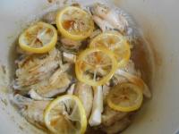 鶏手羽中のはちみつレモン煮