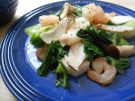 海老と青梗菜の塩炒め