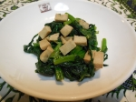 春菊と高野豆腐の和え物