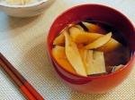 筍の煮物アレンジ☆筍とわかめの味噌汁