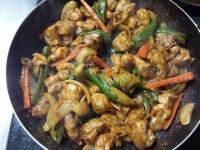 鶏のカレー炒め