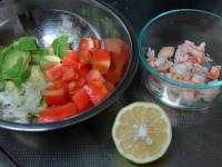 海老とアボカドのマヨネーズサラダ