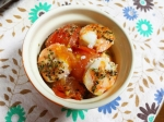 海老とミニトマトのアヒージョ