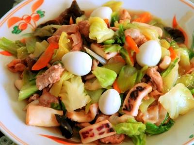 豚肉とイカの簡単八宝菜