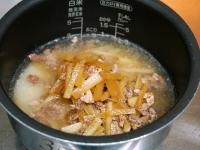 大根と牛肉の炊き込みご飯