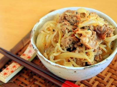 牛 丼 レシピ しらたき