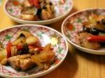 鶏肉と野菜のガーリック醤油炒め