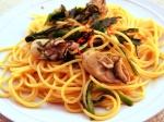 牡蠣とニラの和風パスタ