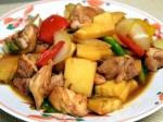 筍と鶏肉の甘辛炒め