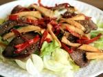 焼肉とエリンギのサラダ