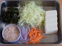 豆腐の具だくさんサラダ