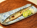 秋の味覚♪さんま(秋刀魚)の塩焼きすだち添え