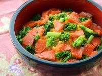 ひな祭りに♪菜の花とサーモンのちらし寿司