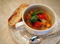 彩り野菜のモロッカンスープ