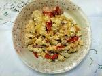 彩り鮮やかな炒り卵豆腐
