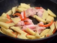 たけのこと豚バラの炒め物