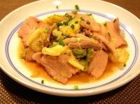 豚バラ肉と春キャベツの回鍋肉風