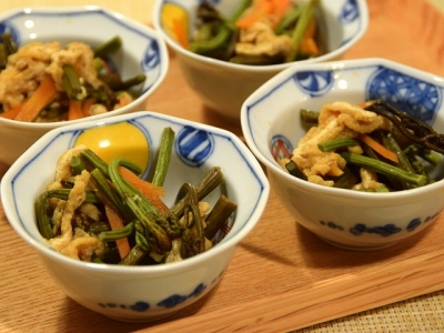 わらび(蕨)の炒め煮