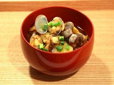 あさり(浅利)とたけのこの味噌汁